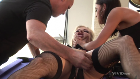 Chayse Evans, Adrianna Nicole, and Mark Davis in Tristan Taormino's Rough Sex 2